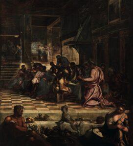 Jacopo Tintoretto, Ultima cena, 1578-1581, Venezia Scuola Grande di San Rocco, Sala Capitolare